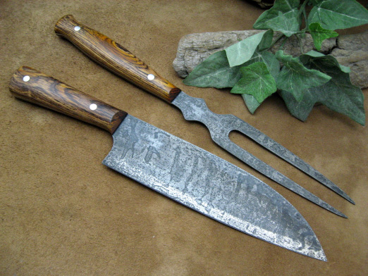 Santoku & Fork Carving Set
