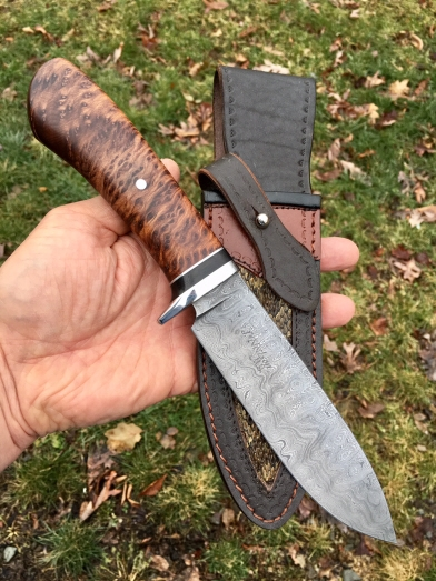 Spear-point in Raindrop & Redwood Burl